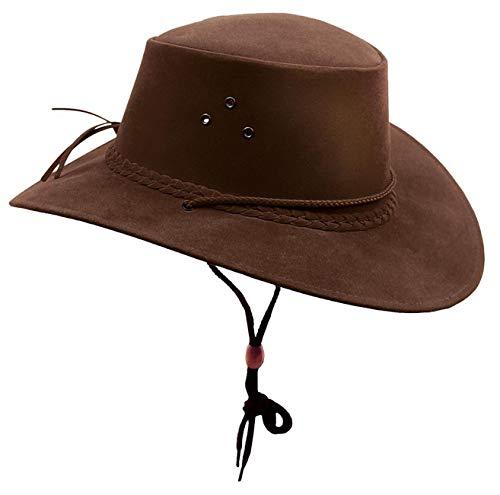Kakadu Traders Australia Chapeau de cowboy pour femme - Marron - XXL