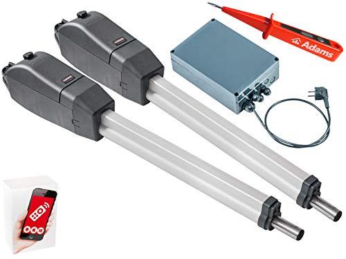 Sommer Twist 350 Drehtorantrieb 2-flüglig + WLAN GATE Modul für Smartphone App Set 3in1A + ADAMS Stromprüfer