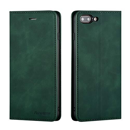 QLTYPRI Hülle für iPhone 6 iPhone 6S, Premium Dünne Ledertasche Handyhülle mit Kartenfach Ständer Flip Schutzhülle Kompatibel mit iPhone 6 iPhone 6S - Grün