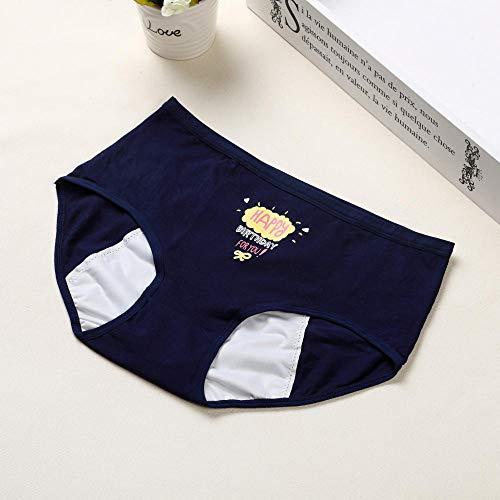 Braguitas - para MujerPantalones para el período Menstrual de Las Mujeres, Pantalones Lunares, Ropa Interior Impermeable y a Prueba de Fugas * 6-UN_L