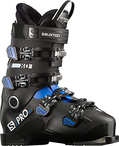 Salomon S/Pro HV 80 IC Mens Ski Boots Black/Race Blue/White Sz 6/6.5 (24/24.5)