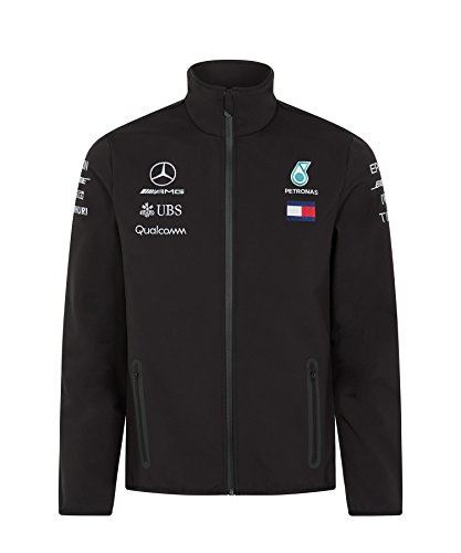 Mercedes AMG F1 Team Soft Shell Chaqueta Negro Oficial 2018