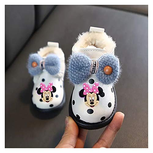 WanXingY Dibujos Animados Infantiles Minnie Non-Deslizamiento sobre Soft-SELED sobre BEBY Boys Y NIÑAS Zapatos Casos Casos CALENTES Botas CORTALES DE LOS Zapatos DE ALGODÓN