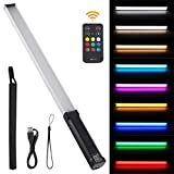 USKEYVISION Wand Video Light, The Handheld Light Wand, RGB Photography Video Lighting with 9 Colors, Built-in Rechargeable Battery, 1000 Lux Adjustable 3200K - 5600K (UVGL-2)