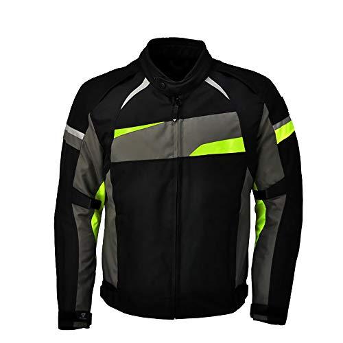 STRTG Motorradjacke Herren, Motoradkleidung Wasserdicht+Textil Motorrad Jacke, M it CE-Protektoren -Atmungsaktive Mopedjacke, Jet Motorradjacke
