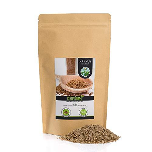 Cumino intero (500g), semi di cumino naturali al 100%, semi di cumino naturali senza additivi, vegani