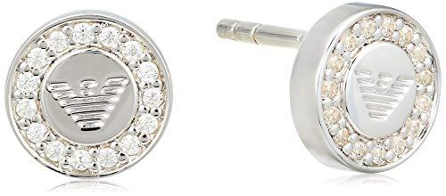 Emporio Armani EG3053 - Pendientes de plata de ley con circonita