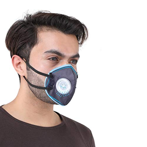 Grin Health N99 AirSaftyHEPA Filtration & Breathing Valve, Reusable Washable Durable N99 GHAirPlus,...