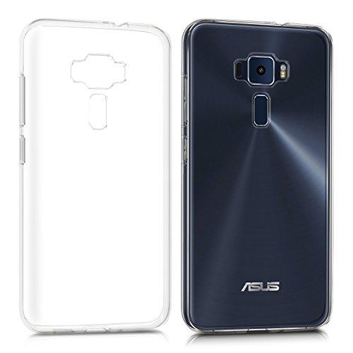 kwmobile ASUS ZenFone 3 (ZE520KL) Cover - Custodia per ASUS ZenFone 3 (ZE520KL) in Silicone TPU - Back Case Protezione Posteriore Trasparente