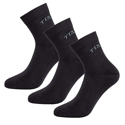 Tisoks Men's and Women's 3-Pack Black Sports Socks Anti Odor Anti Stink Deodorant Quarter Crew Socks for Athletes Foot