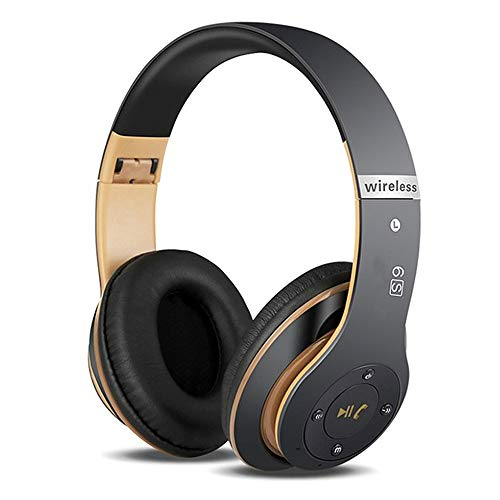 6S Kabellose Kopfhörer Over Ear, Bluetooth Ohrhörer HiFi Stereo Kopfhörer Zusammenklappbarer Kabellos Headphone, Eingebautes Mikrofon Micro SD/TF FM (für iPhone/Samsung/iPad/PC)