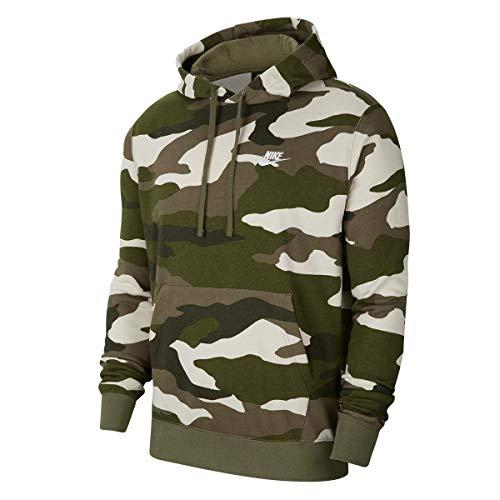 Nike Club Camo Hoody (XL, Olive/White)