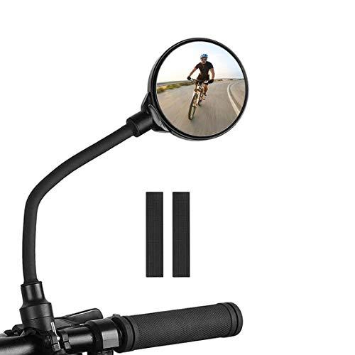 MELARQT Fahrradspiegel, Fahrrad rückspiegel Spiegel, Bicycle Mirror, Fahrrad Weitwinkel Rückspiegel, 360° Drehspiegel Rückspiegel Fahrrad für Fahrrad/Mountainbike/Motorrad/E-Bike/Roller/Mofa, 1 Stück