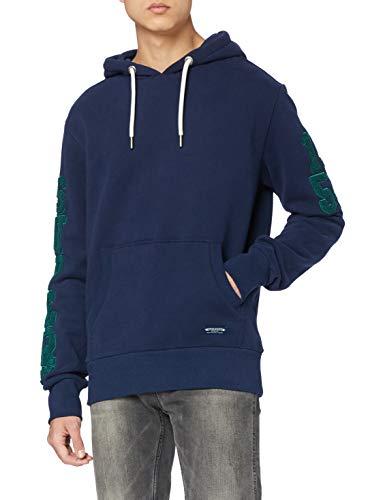 Superdry Mens T&F EMB Hood Skateboarding Hoodie, Rich Navy, L