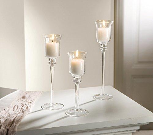 3er Set Glas-Kerzenhalter
