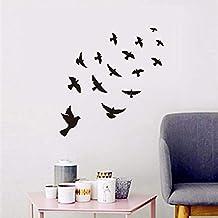 Zwarte Vliegende Vogels Muursticker Voor Kinderkamers Slaapkamer DIY Vinyl Muurstickers Muurschildering Art Decal Kamer Ho...
