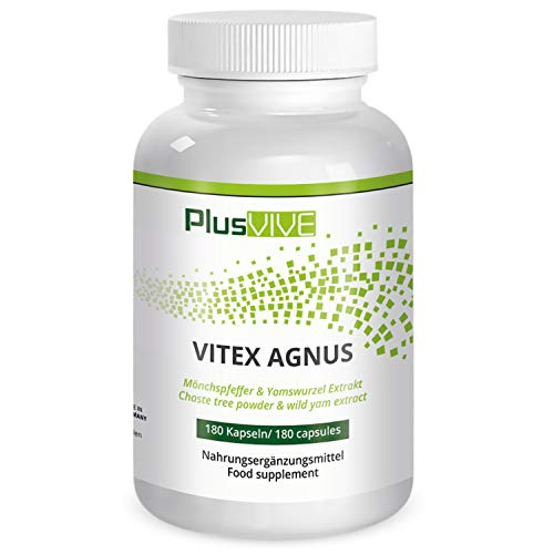 Plusvive Vitex Agnus with Wild Yam Extract, 180 Capsules, (250 mg)