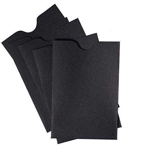 Credit Card/Gift Card Holder Envelopes Sleeve Protectors (2 3/8 x 3 1/2) - Black (24)