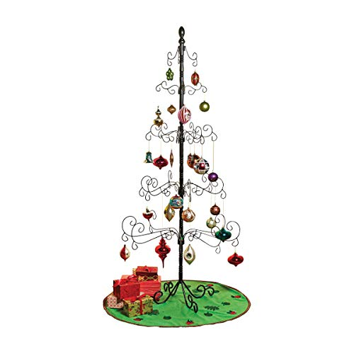 Wrought Iron Christmas Ornament Display Tree - 83'