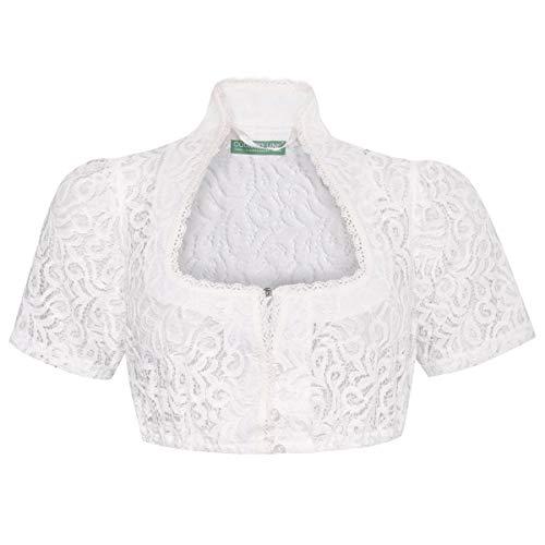 Country-Line Damen Trachten-Mode Dirndlbluse Erna in Ecru traditionell, Größe:32, Farbe:Ecru
