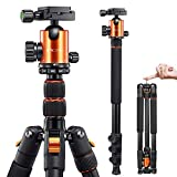 VICTIV Camera Tripod 81 inches Monopod, Aluminum Travel Tripod for DSLR, Lightweight Tripod Loads up...