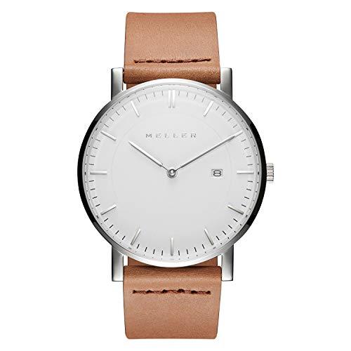 Meller Unisex Erwachsene Analog Quarz Uhr mit Leder Armband 1B-1CAMEL1