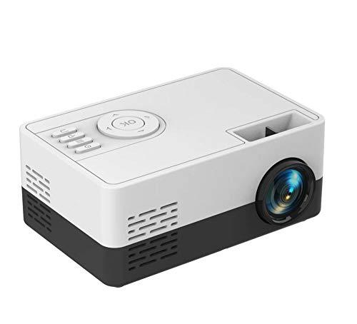 KICAFEE Mini Reproductor Multimedia Casero del Proyector del Mini Pixel 1080P del Proyector Regalos De Los Niños