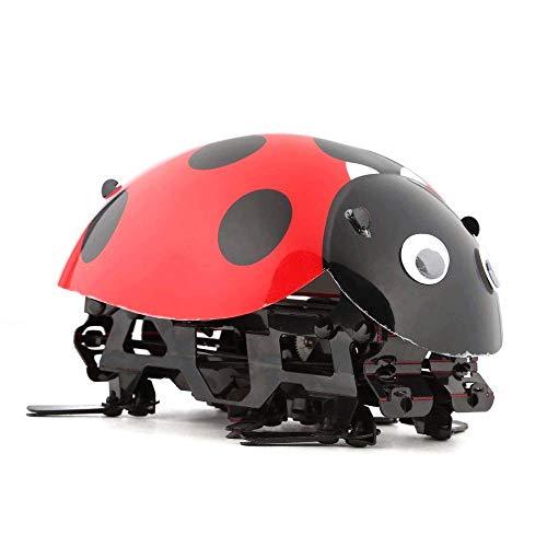 WGFGXQ Robot Inteligente Ladybug Cartoon RC Cars Juguetes DIY Radio Control Juguete de Insectos biónicos 2.4GHz Juguete de Control Remoto inalámbrico con Cable de Carga USB para niños pequeños Cump