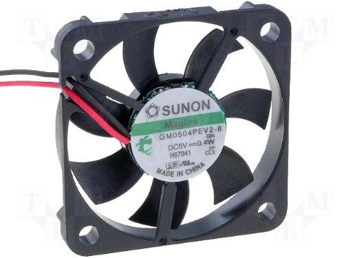 40 x 6 mm GM0504PEV2 ventilador Sunon -8 DC 5 V 6000 U/min 26dBA Vapolager con MLS