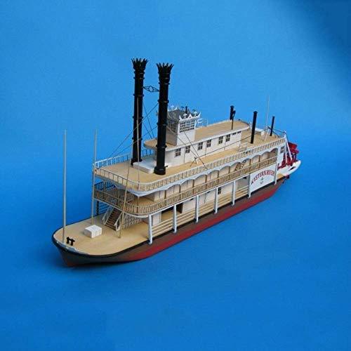Drohneks Simulación Mississippi Paddle Steamer Modelo de Barco Hecho a Mano Alta dificultad DIY Papel Arte Modelo Juguete cumpleaños Decoración Regalos para fanáticos Militares Niño Adulto