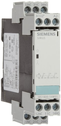 Siemens 3RS18 00-1HW01 Interface Relay, Rugged Industrial Enclosure, Screw Terminal, 22.5mm Width, Hard Gold Plated Contacts, 3 CO Contacts, 24-240VAC/VDC Control Supply Voltage