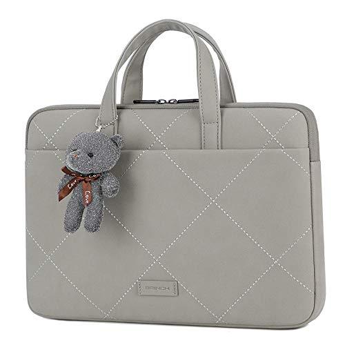 15,6-Zoll-Laptop-Tasche für MacBook Pro Tasche Tasche Funda für MacBook Air Case A2179 Pro Retina 13.3 Handtaschen-GRAU MIT Puppe_Luft 13 A1369 A1466