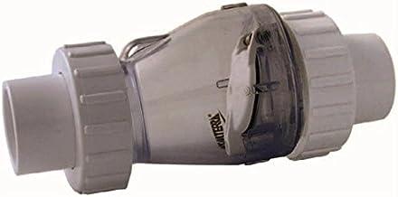 Valterra PVC transparant terugslagventiel met 3/3 koppeling, Ø 50 mm zonder veer