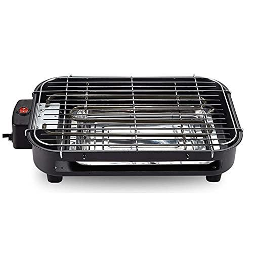 Inicio Equipo Parrillas Raclette Cocinar y asar a la parrilla Parrilla de barbacoa interior Elemento calefactor de acero inoxidable con termostato Bandeja de goteo Plancha antiadherente de fácil li