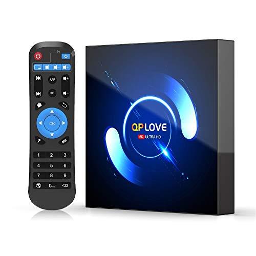 QPLOVE Android TV Box 10.0 4G Ram 64G Rom con Cpu H616 Quad-Core 64 bit Cortex-A53 Tv Box