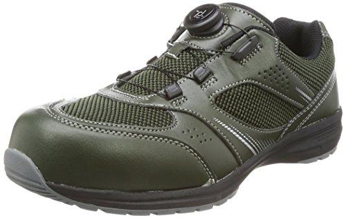 [イグニオ] セーフティシューズ(安全靴) JSAA B種認定 TGFダイヤル式 IGS1018TGF アーミーグリーン 24 cm 3.5E