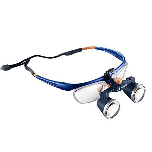 Dental Quirúrgico Médico Lupa Binocular Lupas 2,5X 3,5X 420 MM Certificación CE FDA Óptico Lupa,2.5X