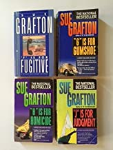 """Sue Grafton (4 Book Set) Kinsey Millhone Mystery Series: """"F"""" Is For Fugitive -- """"G"""" Is For Gumshoe -- """"H"""" Is For Homicide ..."""