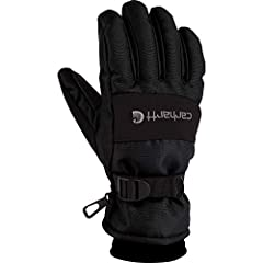 Durable, all-purpose polytex shell Digital-grip palm and stick-grip fingers and thumb FastDry technology lining wicks away sweat Waterproof insert Fleece cuff with adjustable wrist strap closure