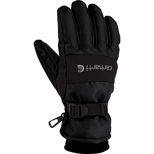 Carhartt Men's WP Waterproof Insulated Glove, Black, X-Large
