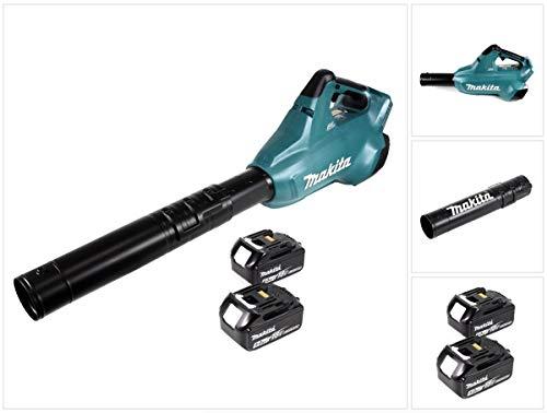 Makita DUB 362 T 2 x 18 volt accu bladblazer accu-blazer + 2 x 5 Ah accu - zonder oplader