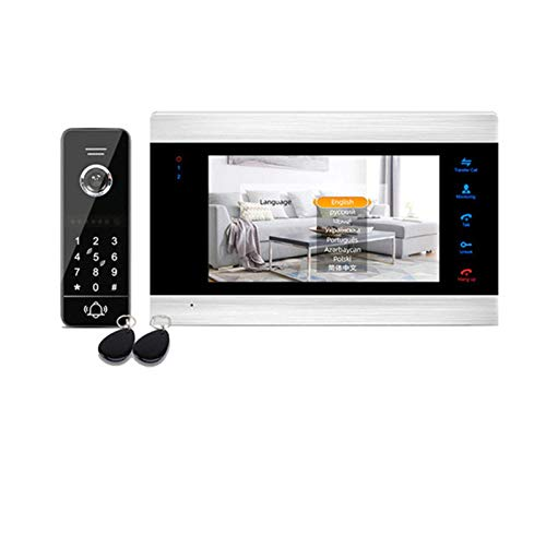 Ybzx Doorbell 130deg; Video Intercom for Home Apartment Video Doorbell Cordless Door Chime Kit
