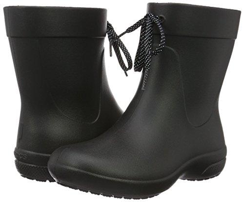 Crocs Women's Freesail Shorty Rainboot Rain Boot, Black, 4 M US