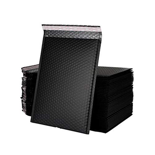 NUOBESTY B / 00 Sobres de Burbuja de Polietileno Sobres Acolchados Sobres de Plástico Impermeables Bolsas Postales para El Paquete de Oficina de La Tienda de 25 - Negro (25 * 33 + 6 Cm)