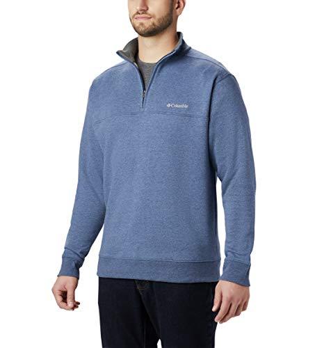 Columbia Men's Standard Hart Mountain II Half Zip Jacket, Navy Blue, Large