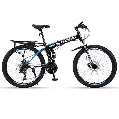 LZHi1 Bicicletas de Montaña Bicicleta De Montaña Plegable De 26 Pulgadas,Bicicleta De...