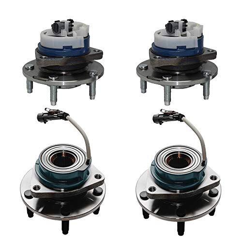 Detroit Axle - Front and Rear Wheel Bearing and Hub Assembly for Chevy Corvette, Cadillac XLR - 4pc Wheel Bearing Hub Set