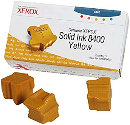 Xerox Yellow Solid Ink, 3 Sticks/Box, Total Box Yield 3400 (108R00607)