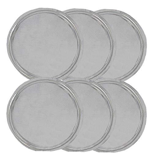 6pcs réutilisables clair Lashes silicone Artificial Eye Porte ronde Cils Plateau palette d'outils Support de base de maquillage