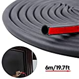 19.7 Feet Long Weather Stripping Seal Strip for Doors/Windows, Self-Adhesive Backing Seals Large Gap (from 5/16 inch to 11/20 inch) Soundproofing Seal Strip